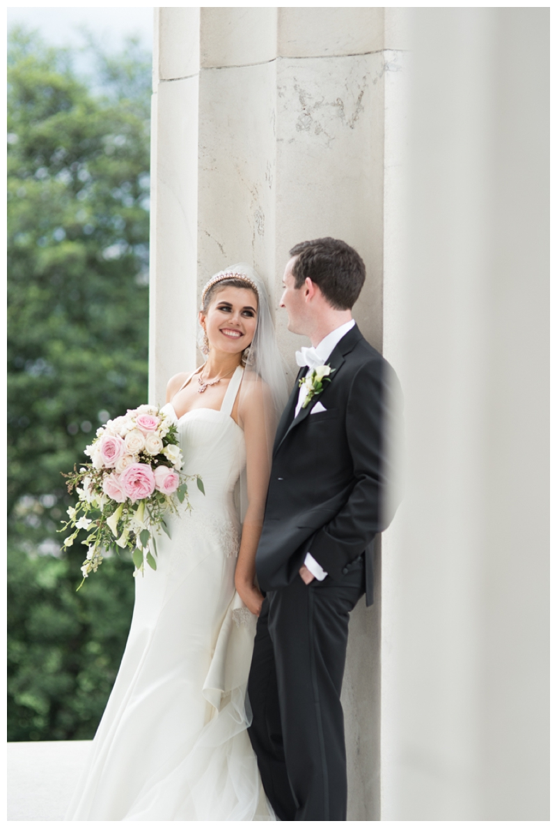 DC Wedding Day Portraits of Bride and Groom at the Lincoln Memorial by Rachael Foster Photography_0053.jpg