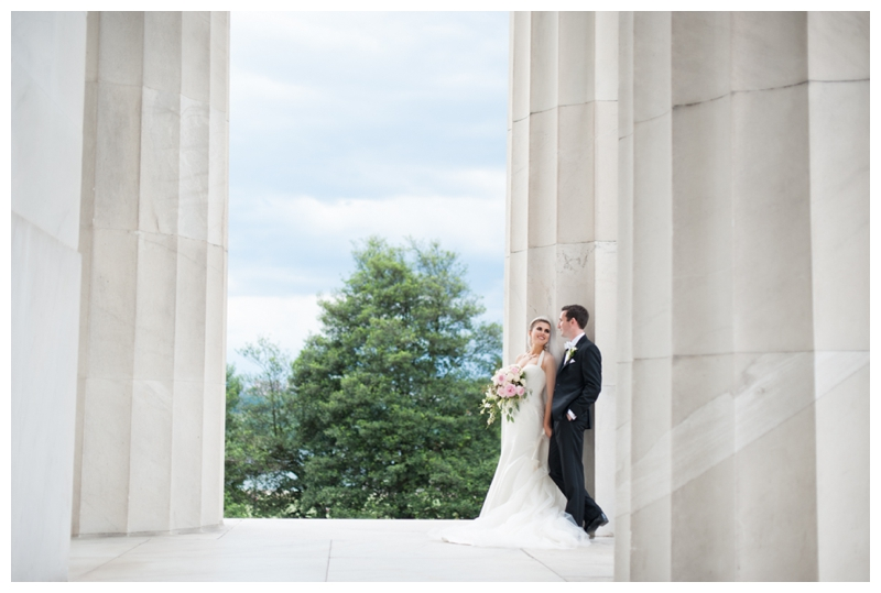 DC Wedding Day Portraits of Bride and Groom at the Lincoln Memorial by Rachael Foster Photography_0054.jpg