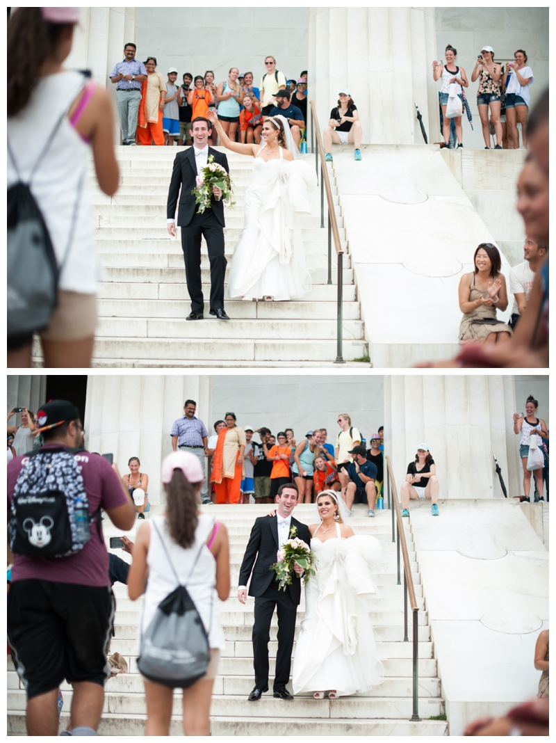 DC Wedding Day Portraits of Bride and Groom at the Lincoln Memorial by Rachael Foster Photography_0056.jpg