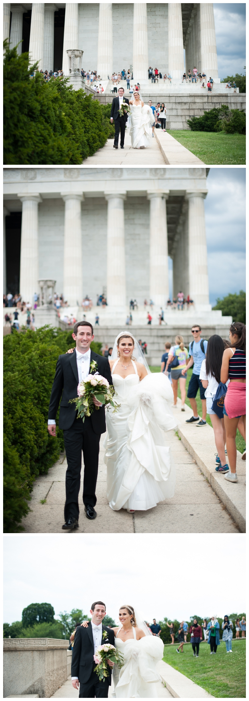 DC Wedding Day Portraits of Bride and Groom at the Lincoln Memorial by Rachael Foster Photography_0057.jpg