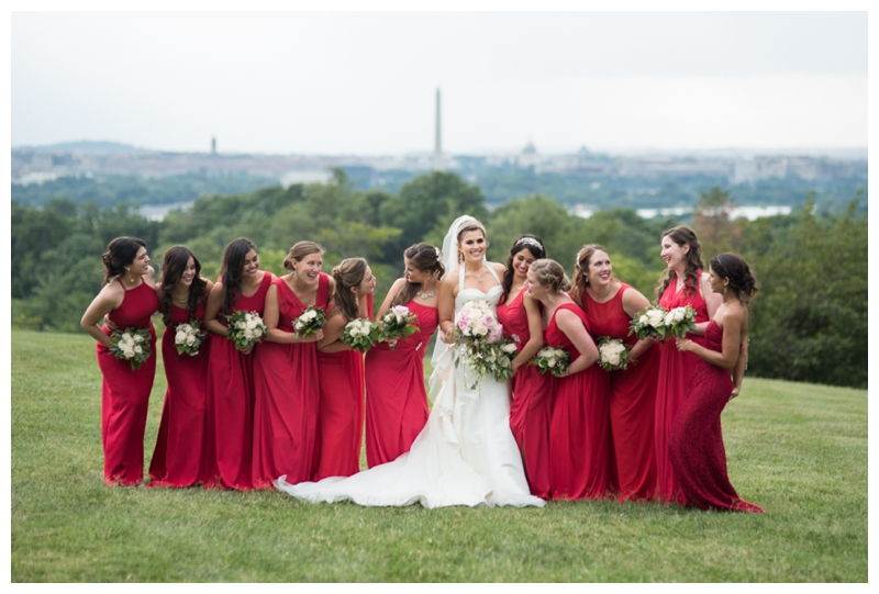 DC Wedding Day Portraits overlooking the cityscape at Fort Myer by Rachael Foster Photography_0067.jpg