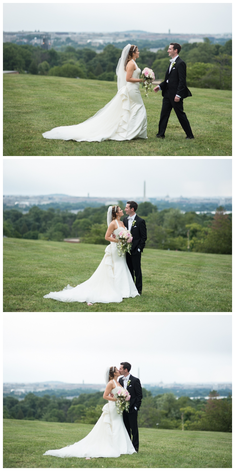 DC Wedding Day Portraits overlooking the cityscape at Fort Myer by Rachael Foster Photography_0068.jpg