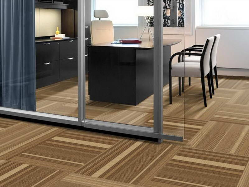 Luxury Interface Of Carpet Tiles With Office Design.