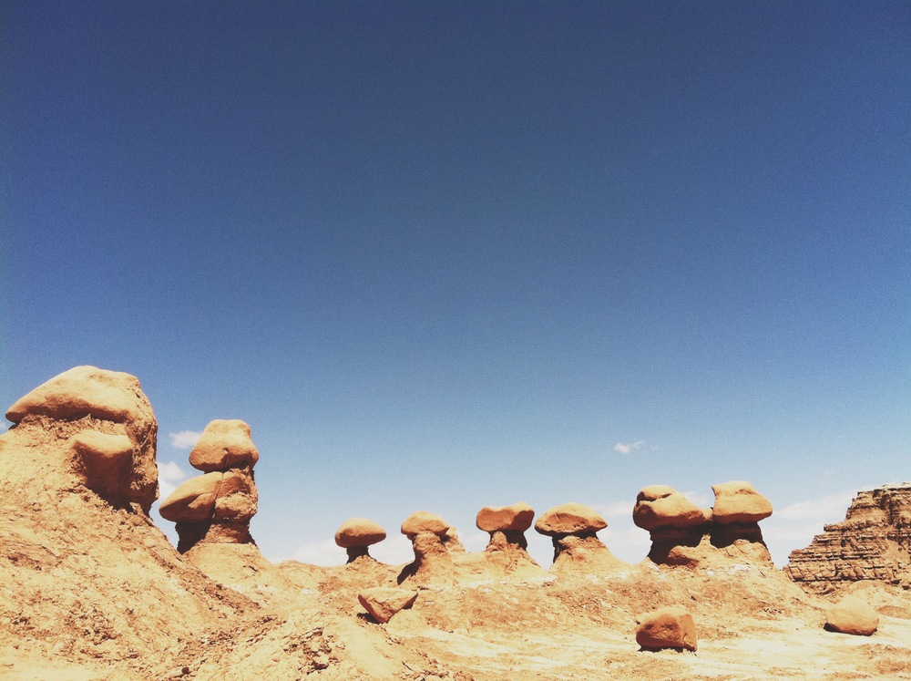 Photo from our trip to Goblin Valley last April