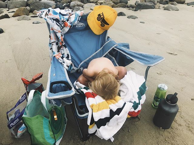I'll file this under 'funny places Finny has tried to nap'. Others being the nose of a paddle board, sidewalk, baseball game, pretty much any where other than his car seat on a long drive.