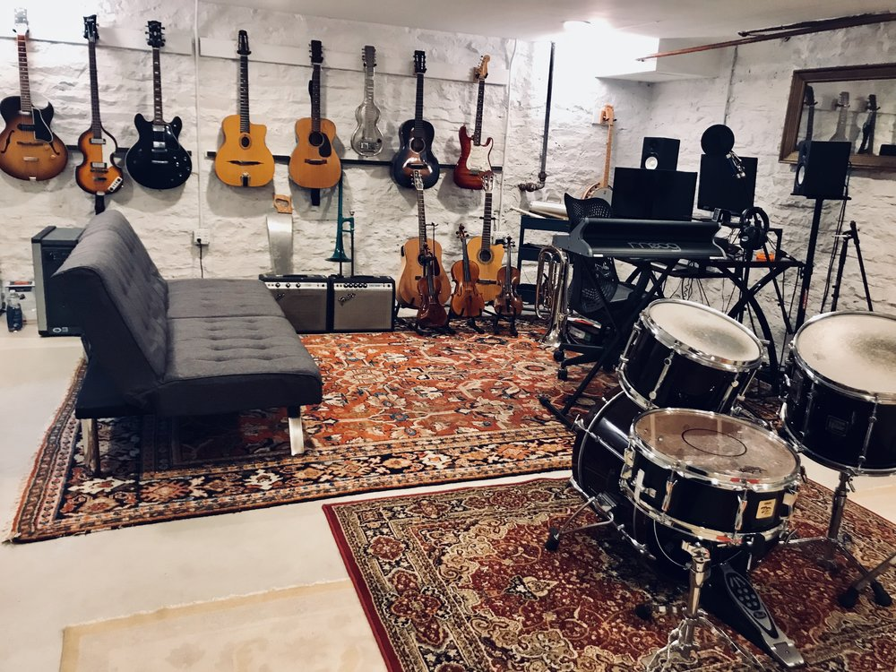 this is our studio, where we create big and small sounds.  Kingston NY