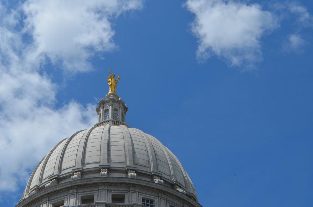 Cúpula de el Capitolio en Madison, Wisconsin