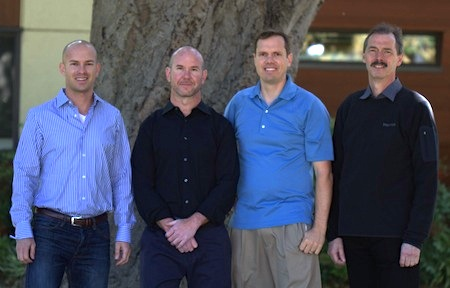 Stealth Biosciences founders (L to R): Dan Wetmore, Ari Chaney, Nick Melosh, and Craig Garner.
