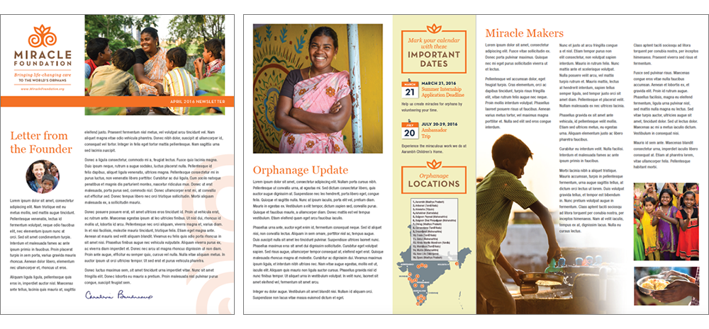 Miracle Foundation Newsletter