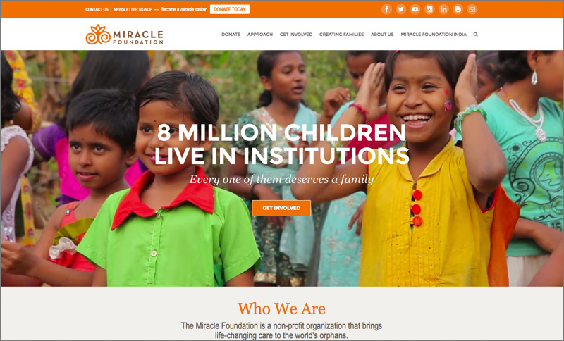 Miracle Foundation Homepage