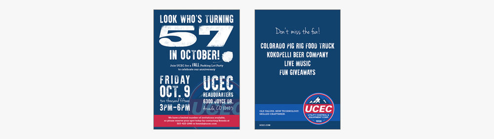 UCEC Anniversary Party Invitation