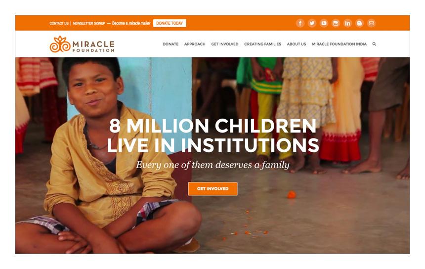 Magnetika Web Design: Miracle Foundation
