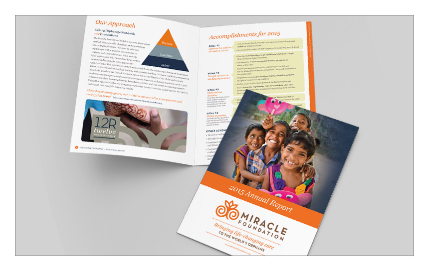 Magnetika Content Marketing Agency: Miracle Foundation Annual Report