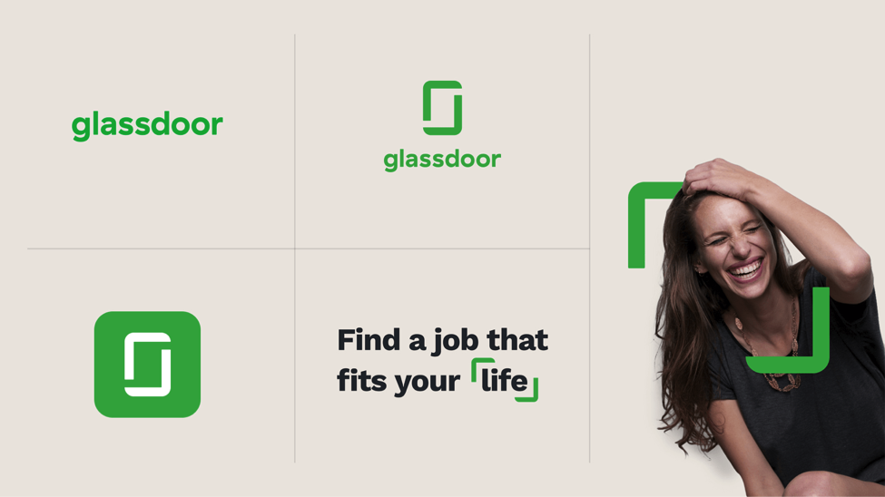 Glassdoor's  updated logo  provides unique visual identity to use across marketing materials.