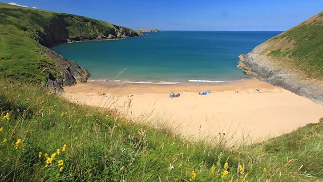 Mwnt Beach Cardigan Bay a 40 min. walk from our sanctuary