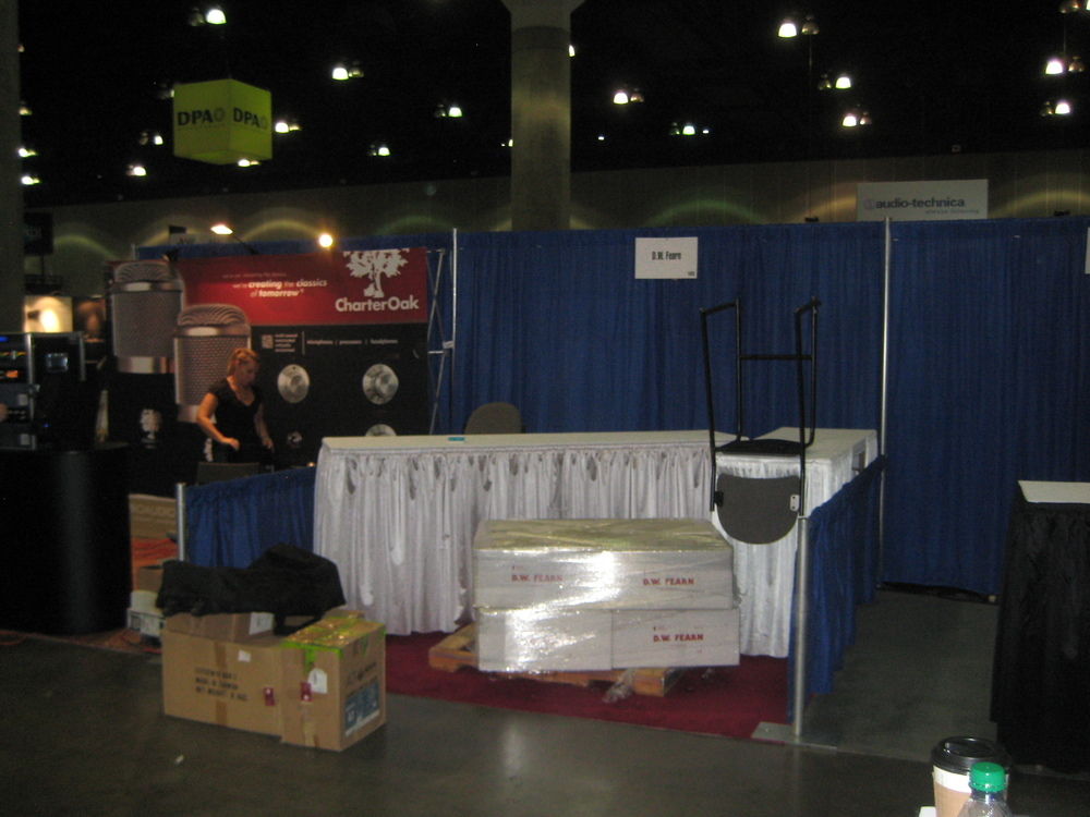 Booth 1003, waiting for the decorators