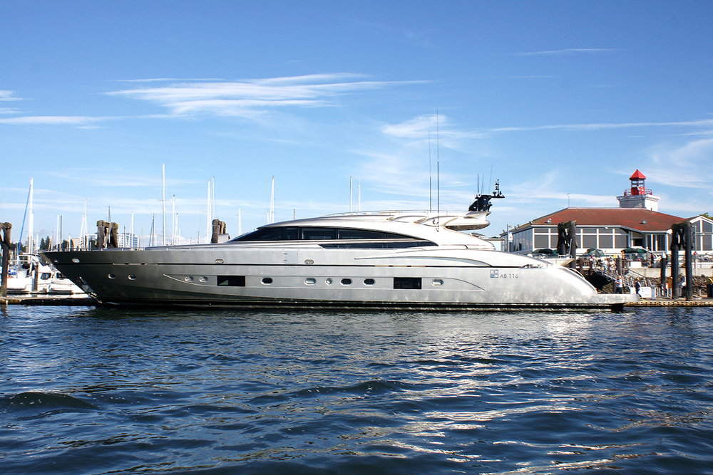 Last but not least. The 119' super yacht Diamond in Everett. She cruises at 44kts and tops out at 50! And hey, she's for sale for a mere €13,150,000!! Check out the interior photos here: http://www.boatinternational.com/yacht-sales/40303/ab-116-for-sale