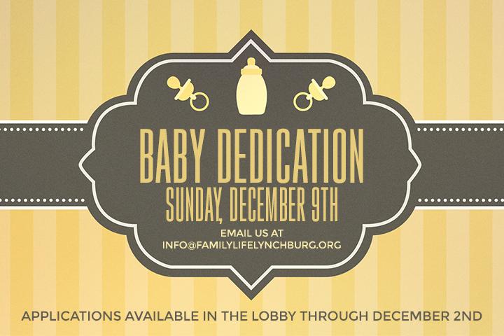 Baby Dedication Family Life Church