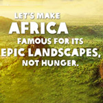 Ads to fight hunger in Africa without hunger