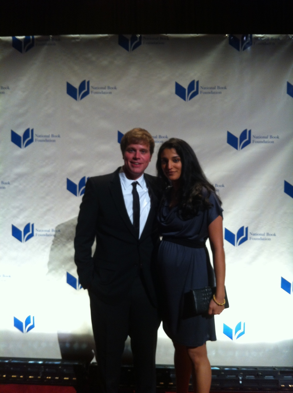 Whaley with editor Namrata Tripathi at National Book Awards, 2011.