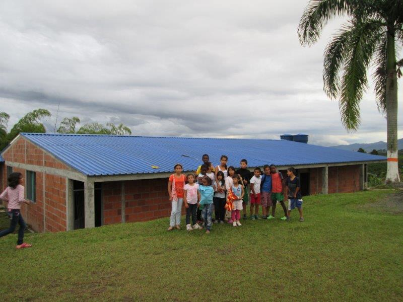 The Bunkhouse was finished in November 2014!  A few kids posing in front of the new building.