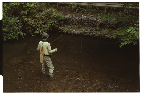 Leica M3, 50mm f2 Summicron, Kodak 160NC, Fly fishing on the Yukawa River