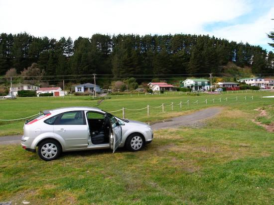 Rental Car at Lake Ferry (Ricoh GR Digital)