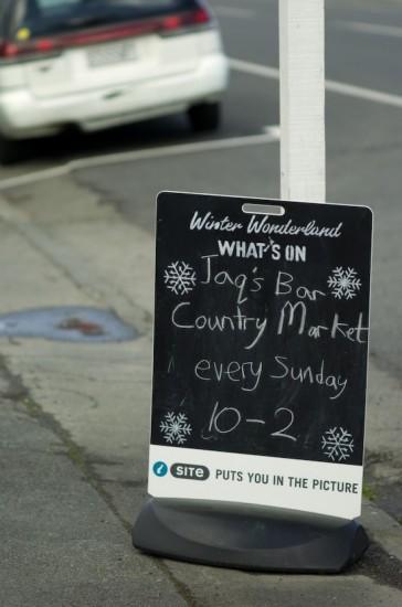 Signboard in Martinborough (Nikon D2H + 40mm f2 ULTRON)