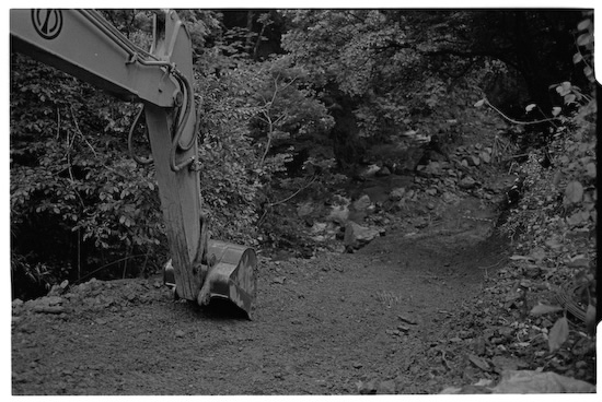 Construction site near Okutama Lake (Leica M2 + Summicron 35mm ASPH)