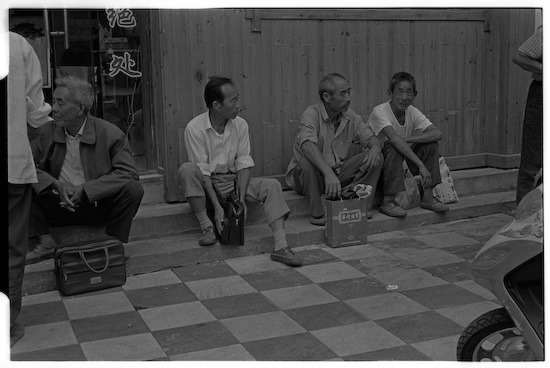 And now with a trio with no stools (Leica M6 + 50mm f2 Summicron + Kodak Tri-X)