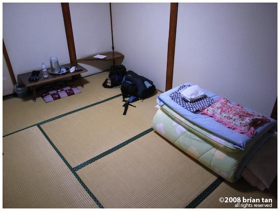 Room at Terazuya ryokan. I just love sleeping on tatami flooring