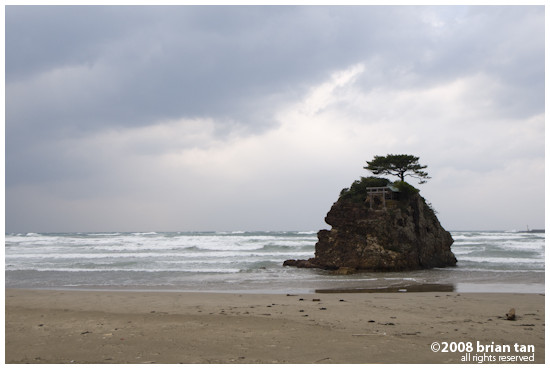 Izumo seaside, a major storm on its way