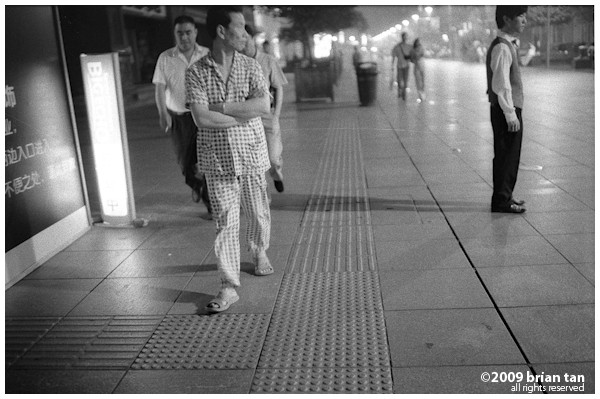 And some came to Nanjing Road prepared with their pyjamas.