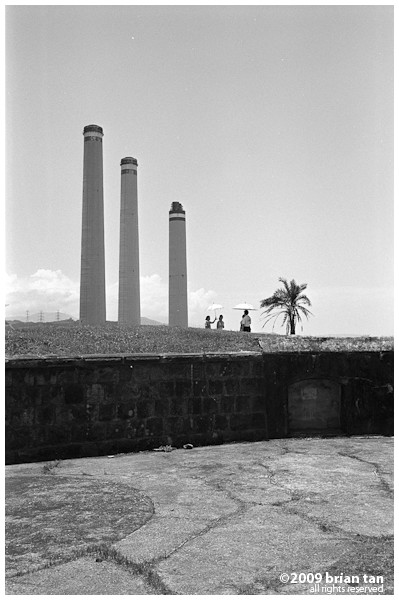 Baimiwong Fort with power station smoke stacks in the background