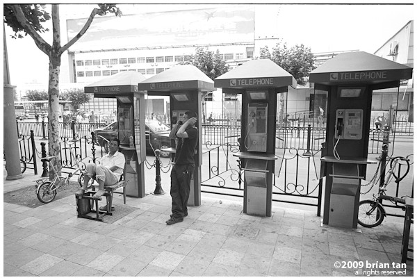 So it looks as though public phones are not that popular after all. It makes good temporary shelter for some.