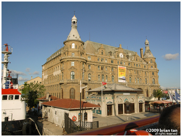 Haydarpasa Train Station on the Asian shore