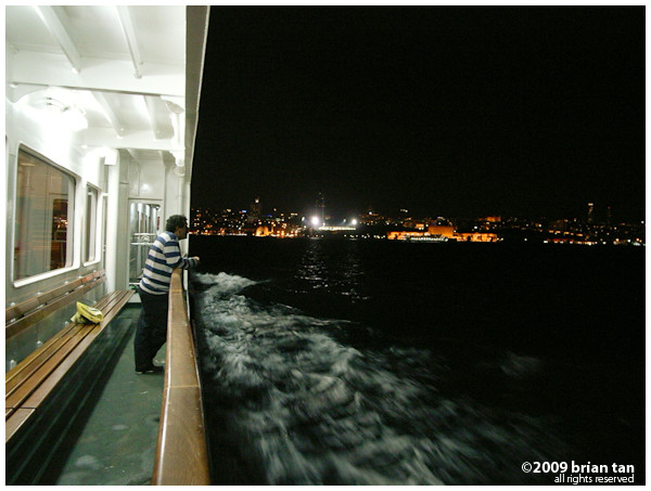 Boat rides don't get more exciting than crossing the Bosphorus from Asia back to Europe at night...