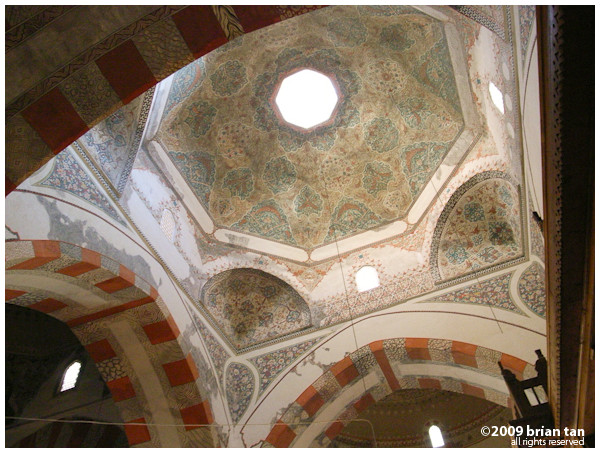 Edirne Old Mosque: A smaller central dome
