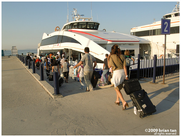 Boarding IDO ferry at Yalova