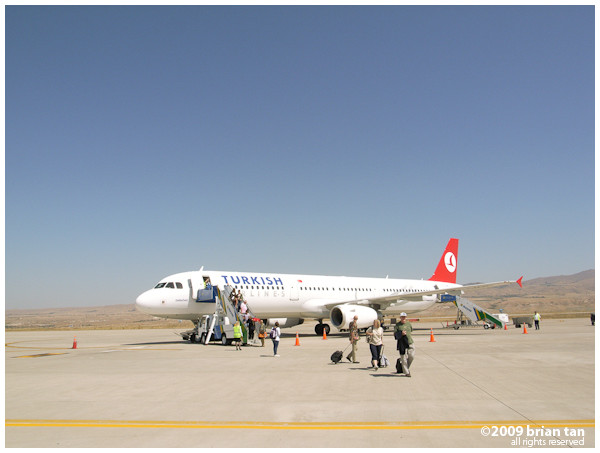 Not too many flights to Nevsehir airport. Today there are less than 5.