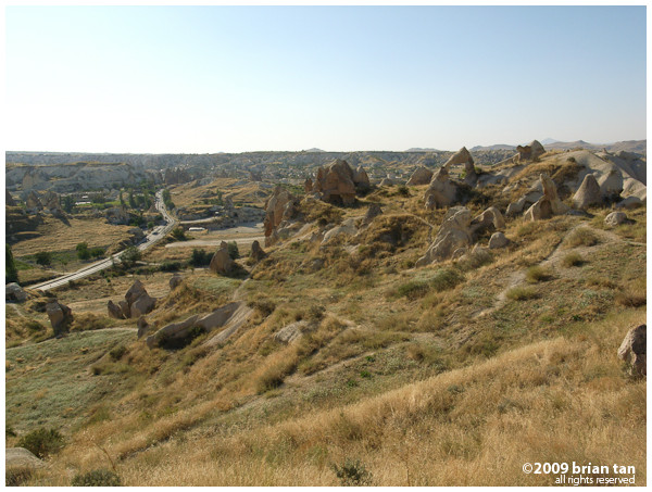 Nice Cappadocian landscape just across the road from the Open Air Museum. Will require some climbing though...