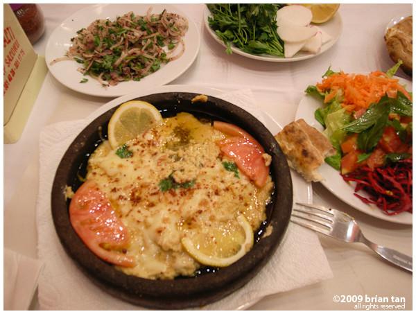 Dinner: Hot plate hummus
