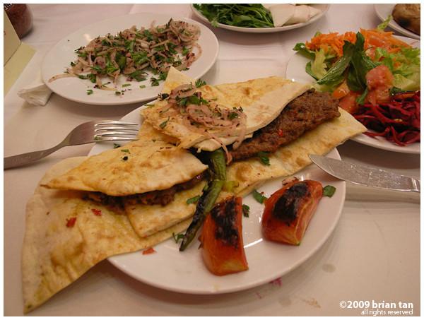 Dinner: Adana Kebab