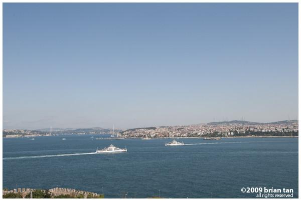 The Bosphorus and Anatolia from Topkapi Palace