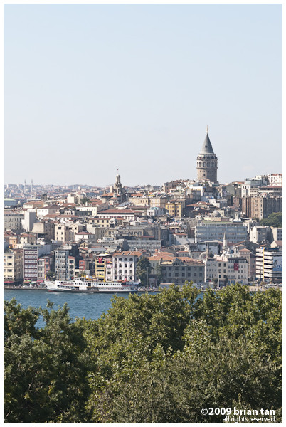 Galata Tower from Topkapi Palace
