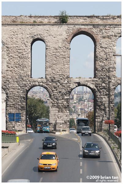 Valens Aqueduct: Up close