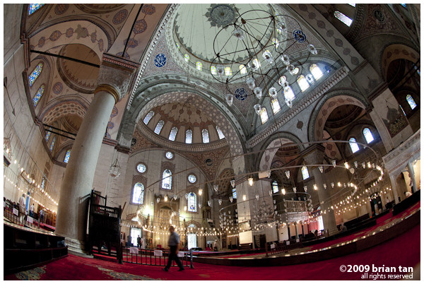 Sultan Beyazit 2 Mosque: How a bird sees the inside