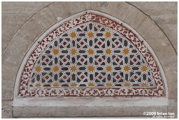 Selimiye Mosque: Accent detail