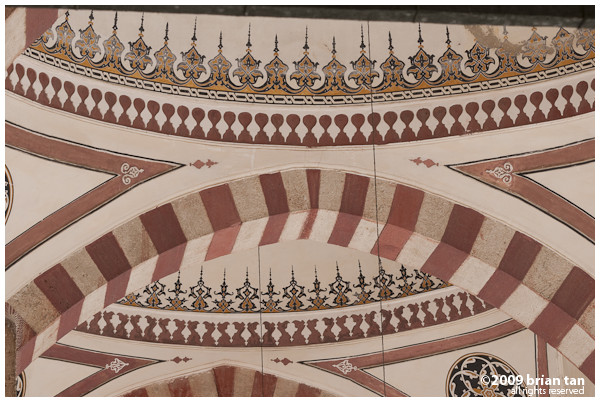 Selimiye Mosque: Outer terrace ceiling detail