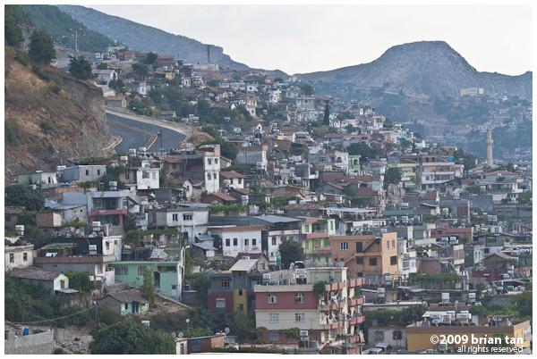 Antakya city from the hillside